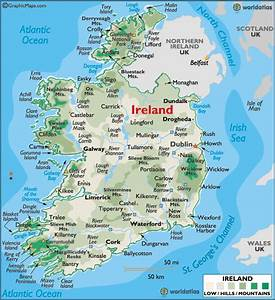 Ireland Large Color Map