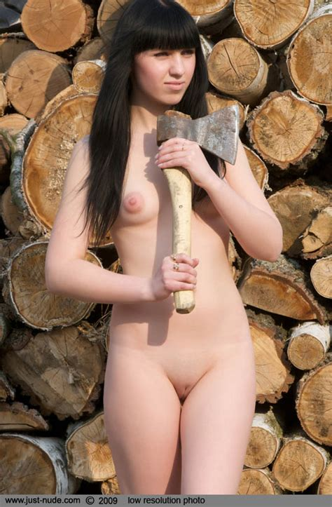Natali Chopping Wood
