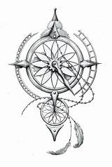 Compass Line Drawing Rose Coloring Getdrawings sketch template