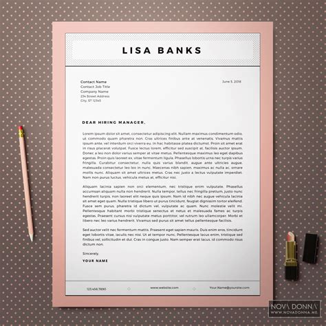 resume cover letter design resume templates cv template design cover letter modern chic donna