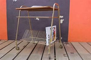 Meuble Platine Vinyle Vintage : table platine vinyle vintage avec support pour disques 33 tours ~ Teatrodelosmanantiales.com Idées de Décoration