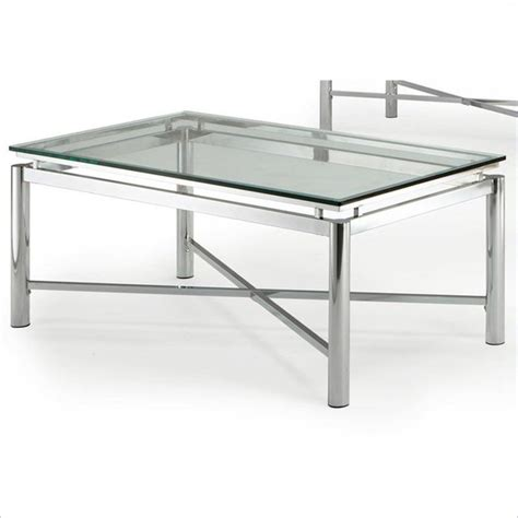 silver glass coffee table steve silver company nova glass top cocktail table