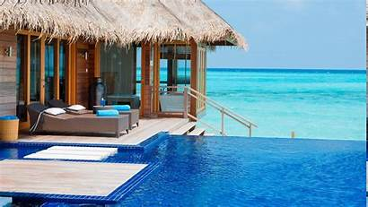 Maldives Resort Pool Tropical Beach Luxury Swimming