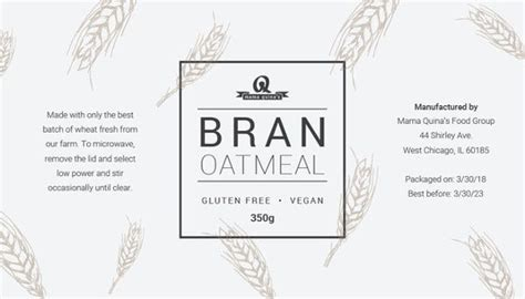 food label templates  psd eps ai illustrator