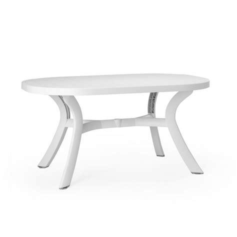 table de jardin ovale en plastique