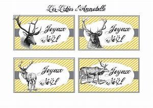 Mes étiquettes Gratuites à Imprimer : carte tiquette no l renne gratuite imprimer a ~ Nature-et-papiers.com Idées de Décoration
