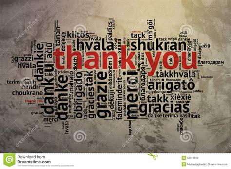 Englisch Dankt Ihnen, Offener Wort-wolke, Dank, Schmutz-hintergrund Stock Abbildung