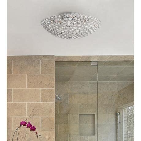 possini design possini euro design geneva 16 quot wide crystal ceiling light ceilings products and glasses