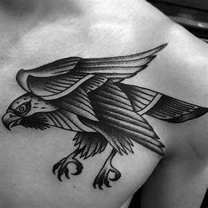 90 Falcon Tattoo Designs For Men - Winged Ink Ideas