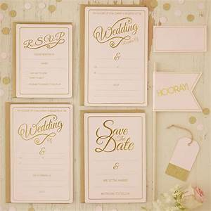 Fabulous gold wedding card pink and gold wedding for Pink and gold wedding invitations uk