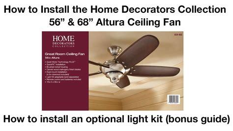 install      altura ceiling fan youtube