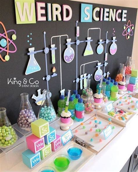 Science Decorations - 1001 birthday ideas for diy decor themes