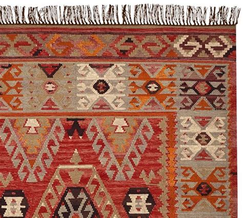 cyndy kilim recycled yarn indoor outdoor rug pottery barn
