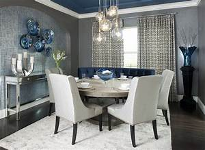 Accent Wall Ideas For Modern Small Dining Room Ideas With ...