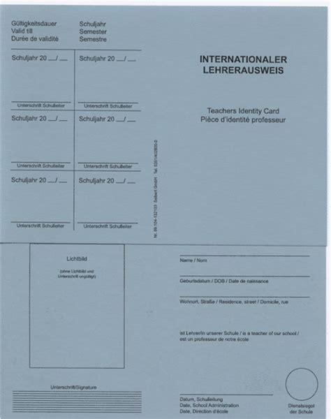 lehrerausweis neobond international seibert verlag