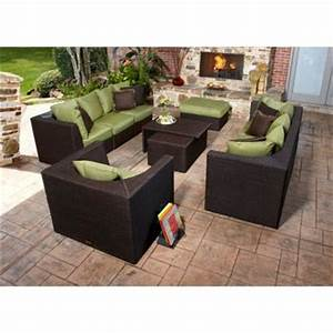 marabella 8 piece patio sectional set by broyhillr outdoor With outdoor sectional sofa costco