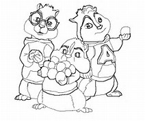HD Wallpapers Alvin And The Chipmunks Christmas Coloring Pages