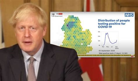 Boris Johnson shows 'powerful' new coronavirus map turning ...