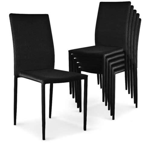 6 chaises pas cher brookline gris 6 chaises empilables modan noir achat vente table salle a manger pas cher