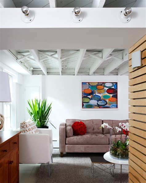 loft like basement renovation modern basement dc