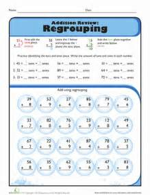 2nd grade math worksheets free printable review addition with regrouping worksheet education