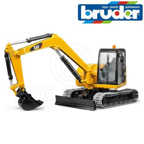bruder toys  caterpillar cat mini digger excavator  scale toy model ebay
