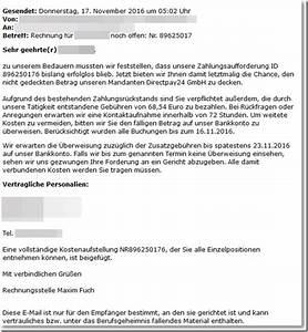 Rechnung Directpay : warnung trojaner kommt im directpay24 gmbh schafspelz ~ Themetempest.com Abrechnung