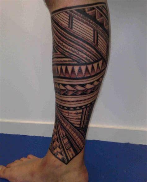 fascinating tribal leg tattoos  tribal