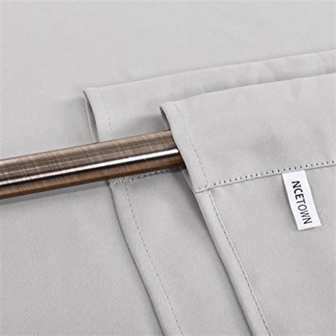 nicetown thermal insulated blackout curtain tie up shade