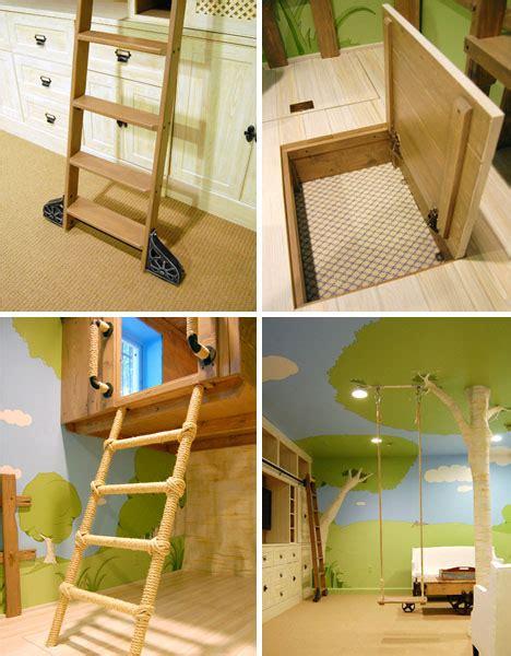 custom treehouse bedroom  kids designs ideas  dornob