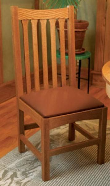 traditional oak dining chair woodworking plan