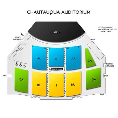 chautauqua auditorium seating chart vivid seats