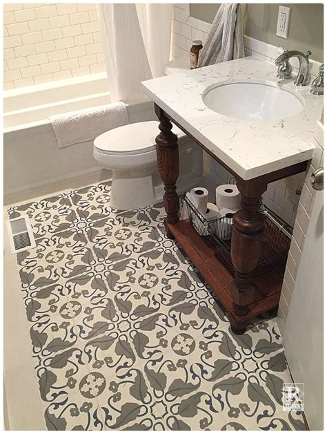 cement tile bathroom floors rustico tile and