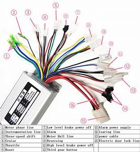 36v 350w Brushless Motor Controller For Hall Ebike Bicycle
