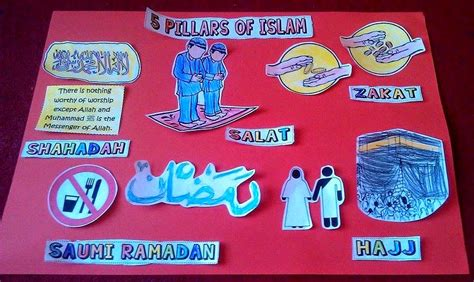 iman s home school pillars of islam colouring poster