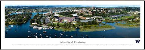 washington huskies framed panoramic poster print campus