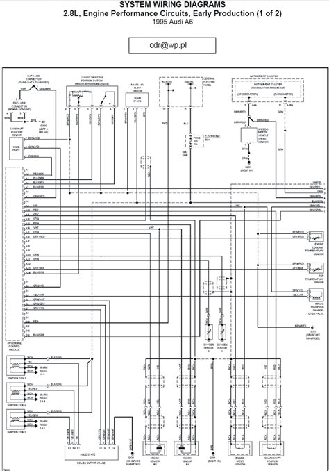 1993 Audi 100 Wiring Diagram by 1996 Audi A6 Engine Performance Circuits Wiring Diagrams
