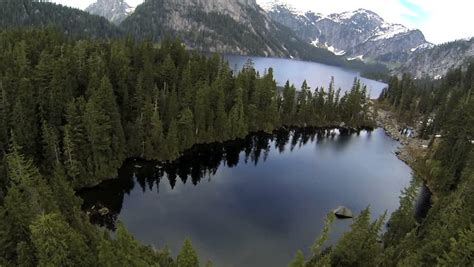 Aerial View Majestic Lake and Stock Footage Video (100% ...