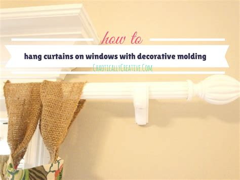 how to hang curtain rods on windows with decorative
