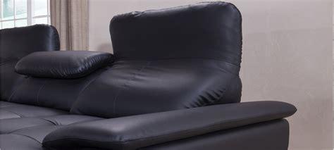 canape en cuir noir canapé d 39 angle en cuir noir à prix canon