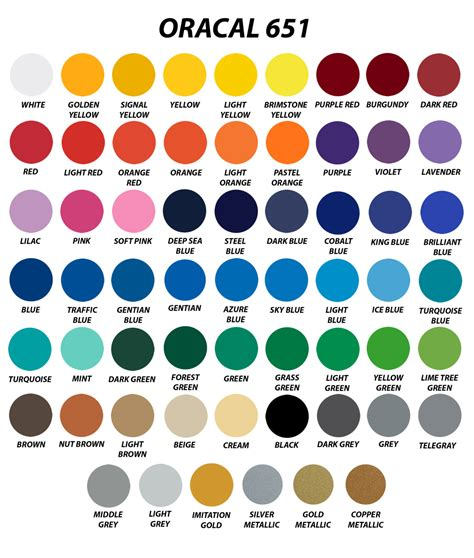 oracal 651 color chart 20 sheets 12 x 24 oracal 651 gloss finish vinyl