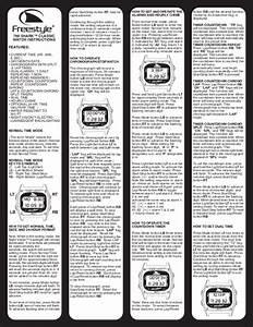 Freestyle Watch 789 User U0026 39 S Guide