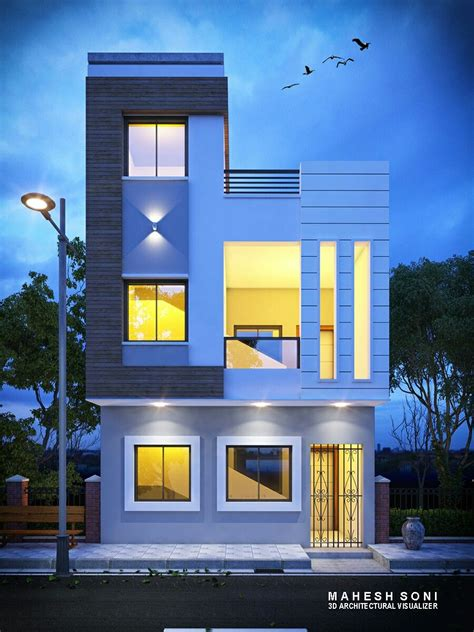 night exterior elevation design small house elevation design small house elevation house