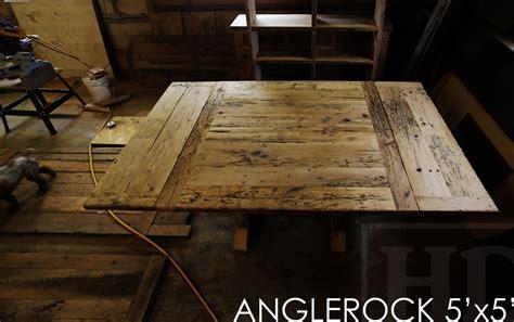 reclaimed flooring ontario reclaimed wood square sawbuck table in fergus ontario blog
