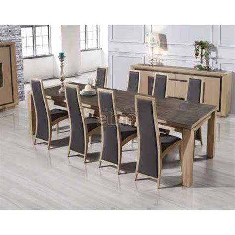 Table Salle à Manger Contemporaine Chêne Massif Et Céramique