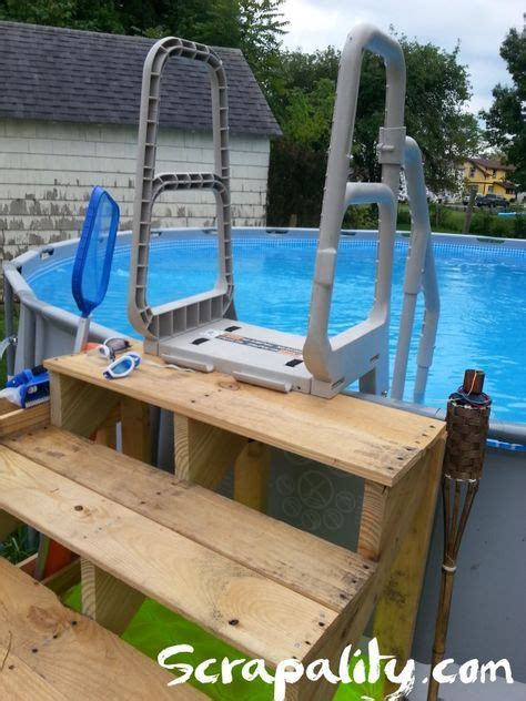 above ground pool ladder for deck 25 best ideas about pool steps on pool with