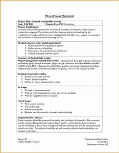 Project scope statement exampleproject scope statement for Scope documents project management