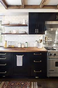 black cabinets in kitchen My Favorite Kitchens of 2015 - House Of Hipsters