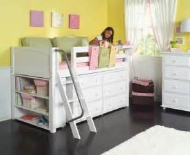 Maxtrix Loft Bed by Maxtrix Kids Low Loft Bed W Built In Dresser Amp Bookcase