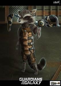 Rocket Raccoon by Doe-jo on DeviantArt